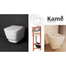 AKCIJA KAME FINO WC piekaramā poda komplekts + bidē