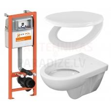 WC komplekts 4 in 1 iebūvējamais
