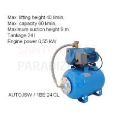 Ūdens apgādes sūknis AUTOJSW 1BE 24CL P=0.55kW 60l/min