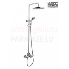 TERM virsapmetuma dušas komplekts ar rokas dušu, lielo dušas galvu un izteces snīpi, ar termostatu