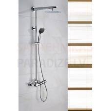 ROGO virsapmetuma dušas komplekts ar rokas dušu un lielo dušas galvu