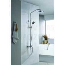 DENVER virsapmetuma dušas komplekts ar rokas dušu un lielo dušas galvu