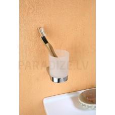 DOREO Glāze ar turētāju, montējama pie sienas