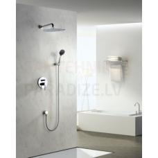 DENVER zemapmetuma dušas komplekts ar rokas dušu un lielo dušas galvu