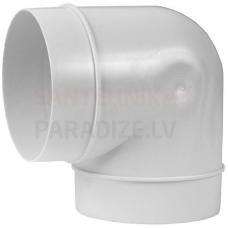 EUROPLAST līkums plastmasas, Ø125mm, 90* AL125-90