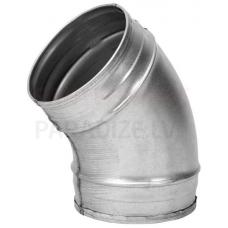 EUROPLAST līkums metāla, 15° Ø 80mm bez gumijām BF45-80
