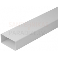 EUROPLAST plakanais kanāls plastmasas, 110x55mm, 1.5m K-1.5