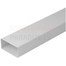 EUROPLAST plakanais kanāls plastmasas, 220x55mm, 0.5m K25-0.5