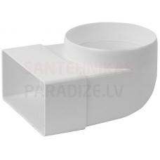 EUROPLAST līkums ar diametru plastmasas, 110x55mm, Ø100mm KLD