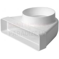 EUROPLAST līkums ar diametru plastmasas, 220x55mm, Ø125mm KLD25-125