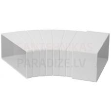 EUROPLAST līkums horizontāls plastmasas, 110x55mm, 15-60* KLH15-60