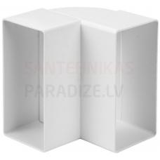 EUROPLAST līkums vertikāls plastmasas, 110x55mm, 90* KLV