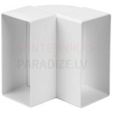 EUROPLAST līkums vertikāls plastmasas, 220x55mm, 90* KLV25-90