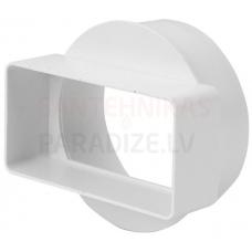 EUROPLAST pāreja uz apaļo (īsā) plastmasas, 110x55mm, Ø100mm KSD1