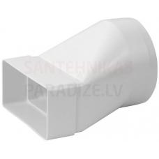 EUROPLAST pāreja uz apaļo (garā) plastmasas, 110x55mm, Ø100mm KSD2