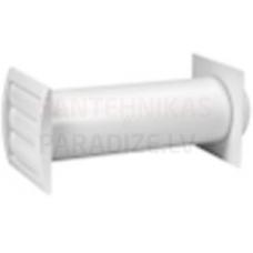 EUROPLAST Dabiskās vēdināšanas ventilacijas komplekts sienai, Ø100mm, 300-550mm SPK4-100