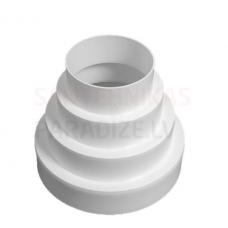EUROPLAST pāreja plastmasas, Ø80-100-120-125-150mm VA80