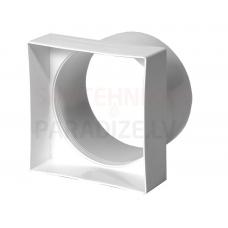 EUROPLAST pāreja plastmasas, 90x90mm, Ø100mm VA90