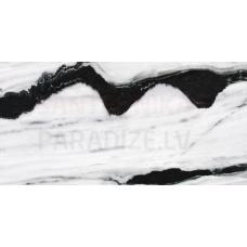 Glancētas flīzes - sienām, grīdai, fasādei 120x60cm Black Panda / Panda Marble Hi-Gloss (spoguļvirsmas pārklājums ) / 8 faces