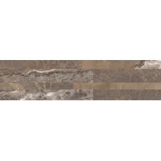 Dekors / klinkera flīzes ar akmens rakstu iekštelpām un fasādei TIFFANY BROWN 15x61cm