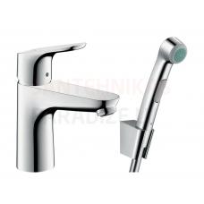 Hansgrohe izlietnes jaucējkrāns ar higiēnas dušu FOCUS 100