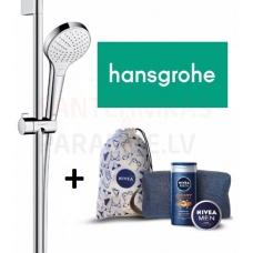 Hansgrohe dušo komplektas Croma Select S Vario 650мм chromas/balta + Nivea