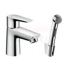 Hansgrohe izlietnes jaucējkrāns ar higiēnas dušu TALIS E