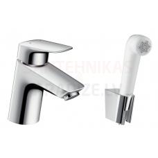 Hansgrohe izlietnes jaucējkrāns ar higiēnas dušu LOGIS