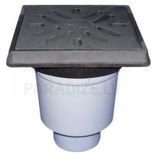 Āra traps ar čuguna resti, DN100, līdz 12.5t (4.3l/s)