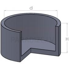 Dzelzsbetona grods ar pamatni KCD 15-10 st 1500 x  1000mm