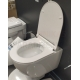 AKCIJA 4 in 1 KPOL Latona piekaramais tualetes pods + iebūvējamais tualetes poda (WC) rāmis + Skalošanas poga + SC QR vāks