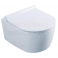 KKPOL piekaramais tualetes pods Selene ar Soft Close / Quick Release vāku
