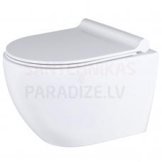 KKPOL piekaramais tualetes pods Latona ar Soft Close / Quick Release vāku